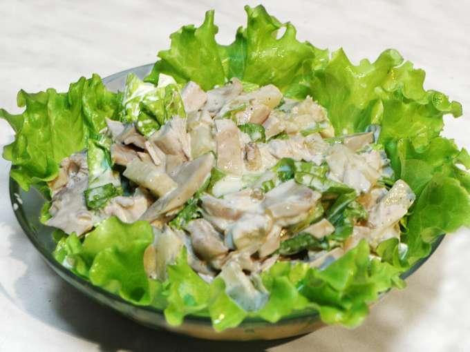 Салат с куриным филе грибами рецепт с фото